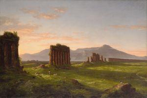 landscape painting artwork ruins