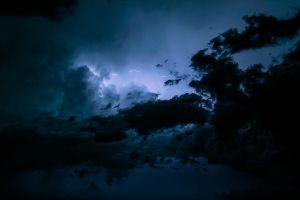 lightning sky clouds