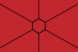 line art hexagon geometry simple background simple red