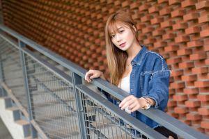 long hair brunette women asian model