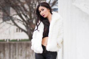 long hair women asian black hair model