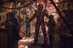 market mech eddie mendoza digital drone cyberpunk futuristic artwork cyber cyborg science fiction robot