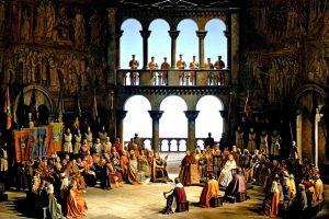 medieval people opera painting