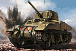 military tank artwork vehicle