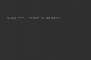 minimalism computer text