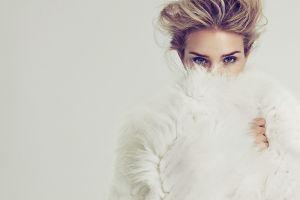 model blue eyes blonde actress rosie huntington-whiteley women covered face