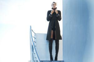 model women knee-high boots maria sharapova blonde russian women