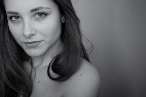 monochrome brunette women model dana kareglazaya