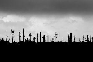 monochrome war artwork graves dark