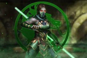 mortal kombat 11 video game warriors video game art video games red eyes