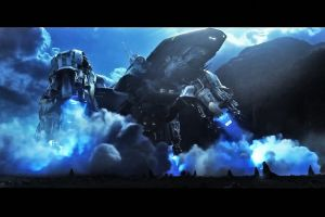 movies spaceship science fiction prometheus clouds