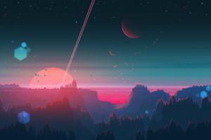 nature joeyjazz space art landscape planet dystopian fantasy art sky digital painting