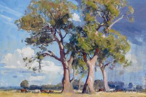 nature landscape classical art painting trees