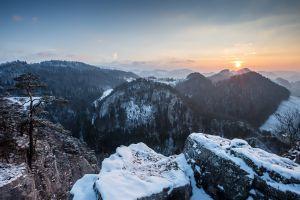 nature landscape mountains winter