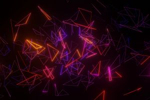 neon shapes triangle