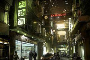night japan city