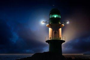 night night sky lighthouse lights sky
