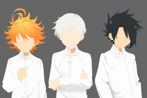 norman (the promised neverland) the promised neverland  emma (the promised neverland) ray (the promised neverland)
