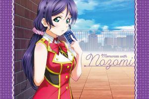 nozomi tojo purple hair long hair anime girls anime