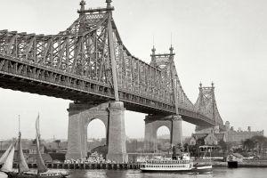 old photos bridge new york city monochrome photography water sailing ship queensboro bridge ship usa