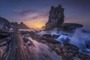 outdoors nature rock coast