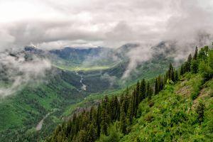 overcast river nature canada landscape valley