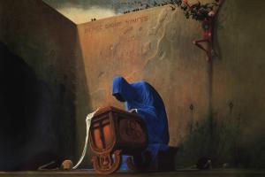 painting artwork symbolism surreal zdzisław beksiński fantasy art