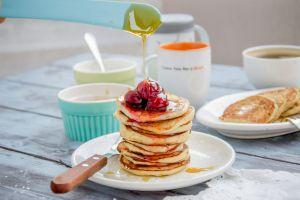 pancakes sweets food honey