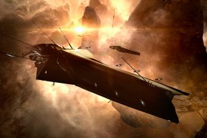 pc gaming eve online spaceship science fiction