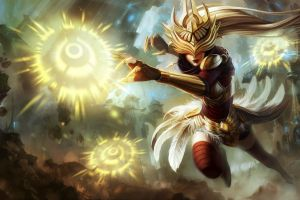 pc gaming fantasy girl syndra fantasy art league of legends