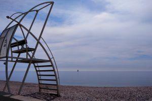 peaceful sea beach lighthouse