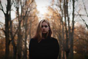 portrait face people women model