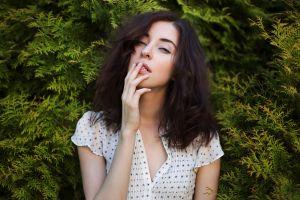 portrait women plants women outdoors model