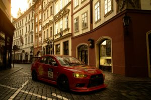 prague gran turismo sport motorsport mitsubishi evolution
