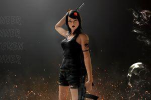 pubg pc gaming weapon gun women