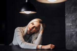 red lipstick women ekaterina timonova anton harisov watch face portrait blonde