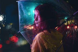 redhead night umbrella women