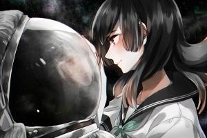 reflection astronaut helmet space