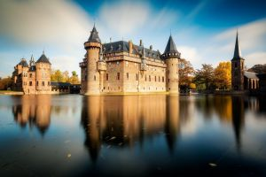 reflection netherlands building water castle