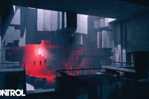 remedy games brutalism red floating control