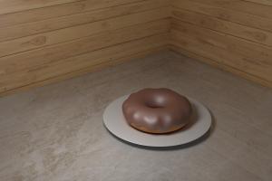 render minimalism blender doughnut