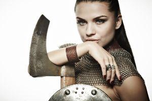 rings painted nails simple background white background warrior girls model fantasy girl warrior women