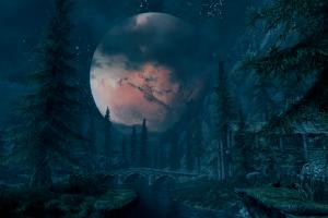 riverwood screen shot the elder scrolls v: skyrim moon pc gaming
