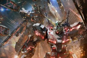 robot mech anime mobile suit gundam unicorn mobile suit gundam
