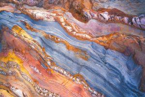 rock texture landscape aerial view
