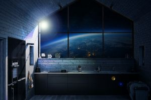 room earth space