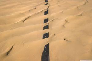 sand desert road