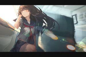 school uniform anime girls anime original characters rolua noa