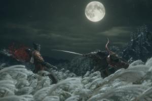 screen shot video games katana warrior moon sekiro: shadows die twice