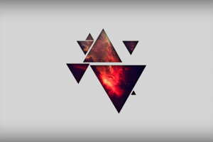shapes digital art simple background triangle abstract space